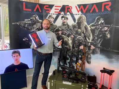 CEO of the company presents a new device for laser tag - Timepoint