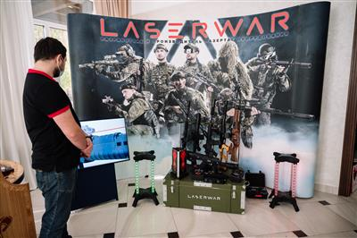 Exhibition of laser tag equipment