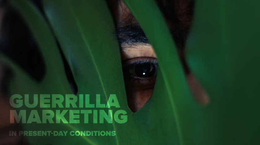 Guerrilla marketing in present-day conditions - offline and online