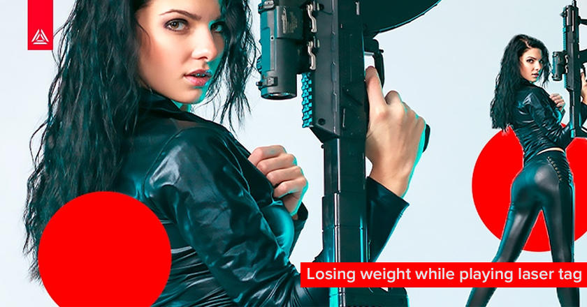 Losing weight while playing laser tag