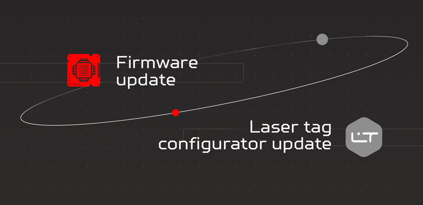 Laser tag configurator and firmware updates
