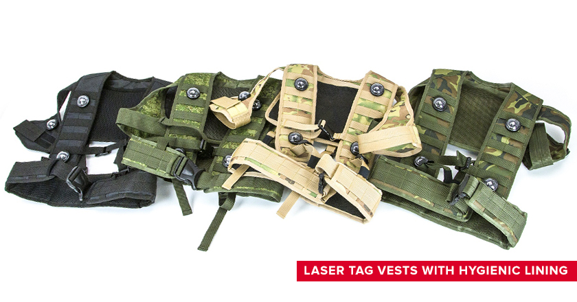 Laser tag vests with hygienic lining