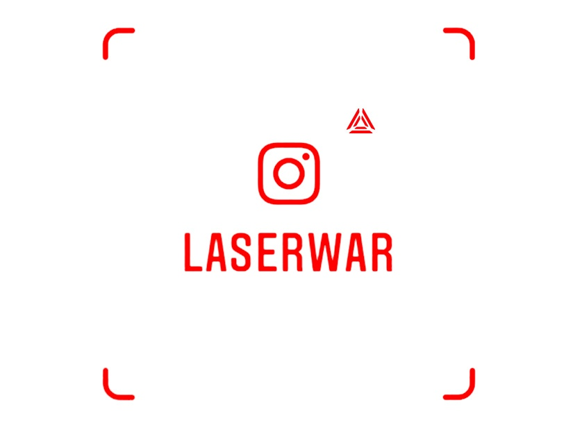 LASERWAR has got its own business card in Instagram