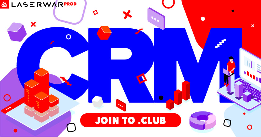 CRM system for laser tag clubs
