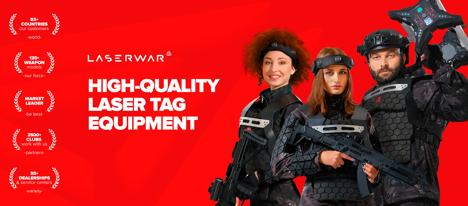 High-quality laser tag equipment
