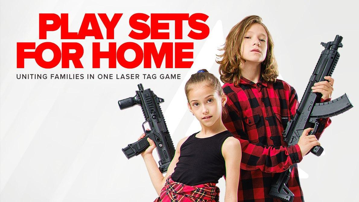 Play home with LASERWAR game sets