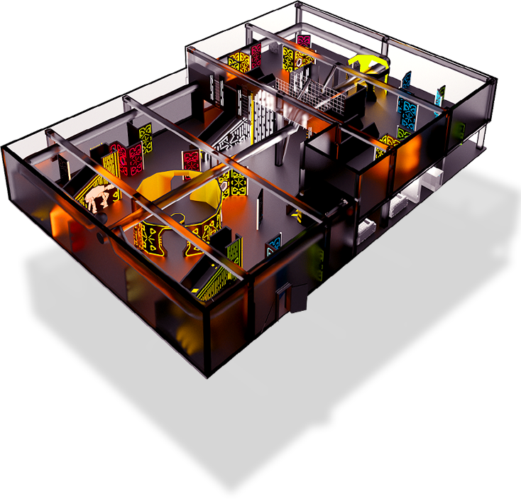 Laser tag indoor playground